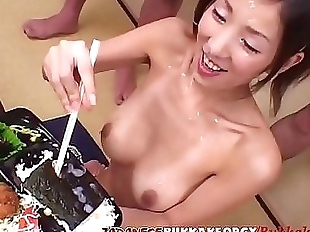 Cum And Sushi for 18 year old Japanese..