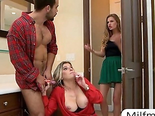 Cory Chase and Sydney Cole amazing orgy on the..