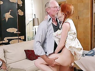 Pigtailed Redhead Teen Fucked by 75 Year OldHD
