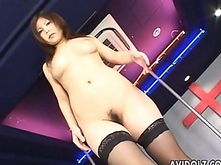 Japanese pole dancer pleases herself - 13 min