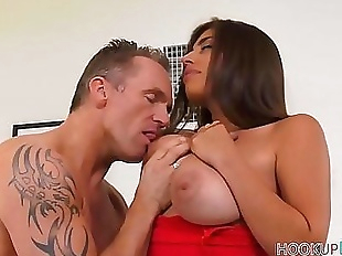 Sexy Big Tits Brunette Latina Stepdaughter Ella..