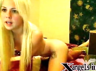 Teen Blonde Ass Fuck With Dildo Machine